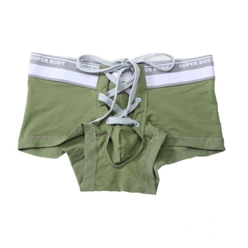 Men Sexy Underwear Boxer Shorts Bulge Pouch Underpants (Army Green) - intl ...