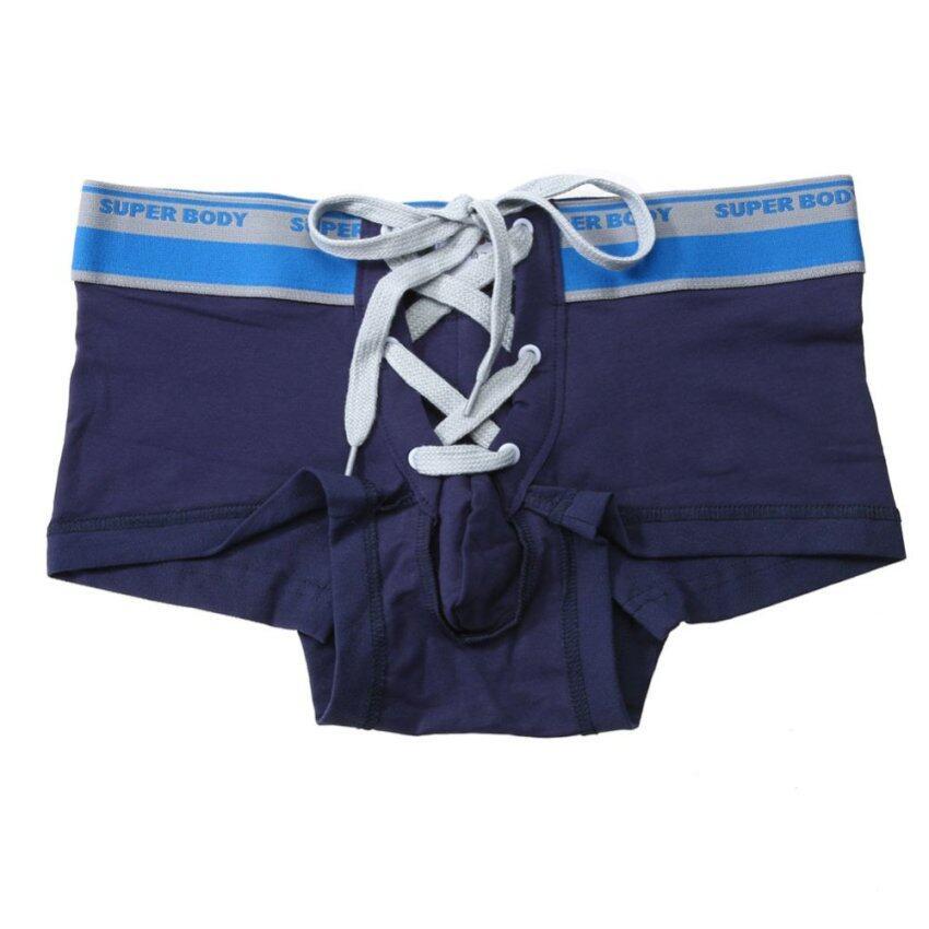 Men Sexy Underwear Boxer Shorts Bulge Pouch Underpants (Dark Blue) - intl ...