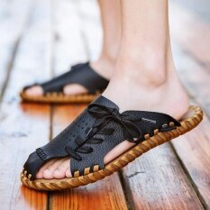 Mens Personality Comfortable Non-Slip Leisure Trend Daily Wear-Resistant Sandals - Intl ราคา 798 บาท(-46%)
