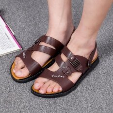 Mens Personality Comfortable Non-Slip Leisure Trend Daily Wear-Resistant Sandals - Intl ราคา 584 บาท(-44%)
