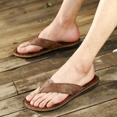 Mens Personality Comfortable Non-Slip Leisure Trend Daily Wear-Resistant Sandals - Intl ราคา 634 บาท(-44%)