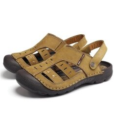 Mens Personality Comfortable Non-Slip Leisure Trend Daily Wear-Resistant Sandals - Intl ราคา 913 บาท(-46%)
