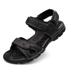 Mens Personality Comfortable Non-Slip Leisure Trend Daily Wear-Resistant Sandals - Intl ราคา 1,062 บาท(-47%)
