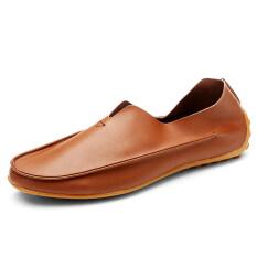 ผู้ชายรองเท้าลำลองลื่นบนโลฟเฟอร์ดั๊กรองเท้าแบนรองเท้าขับรถสำนักงาน Mens Casual Shoes Slip-On Loafers Doug Shoes Flat Shoes Driving Shoes Office Shoes ราคา 760 บาท(-58%)