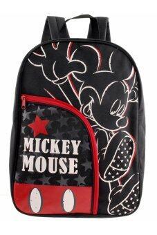 Mickey Mouse กระเป๋าเป้ กระเป๋านักเรียน สะพายหลัง (สีดำ)