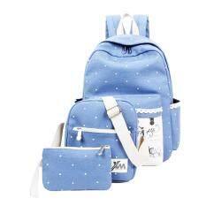MODAKU กระเป๋าเป้สะพายหลัง 3 ใบ Backpack Set 3 pcs (Blue/สีฟ้า)