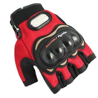 MOTO SPORT ถุงมือ (สีดำ/แดง) ไซค์XL