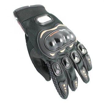MOTO SPORT ถุงมือแบบเต็มนิ้ว (สีดำ/ดำ) ไซค์XXL