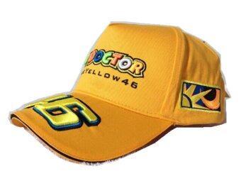 MOTO.GP Valentino Rossi 46 Baseball Hat Peaked Cap Motorcycle Hat (Yellow)