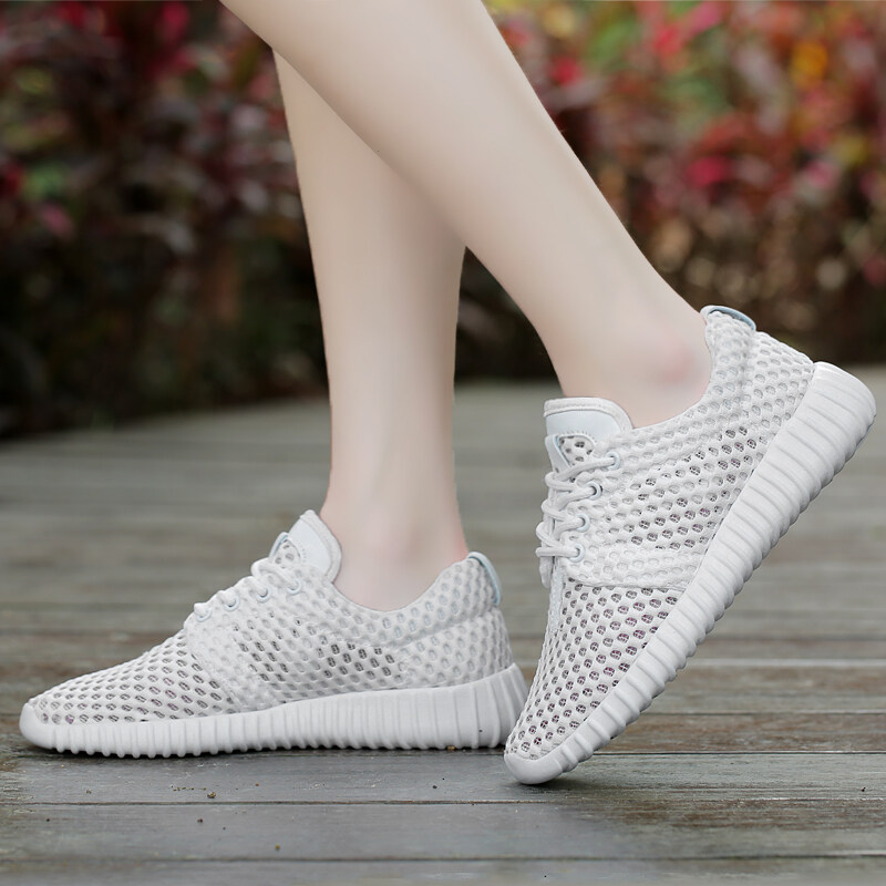MT Female Summer Hollow Mesh Shoes, New Flat Sports Running Shoes (white) - Intl