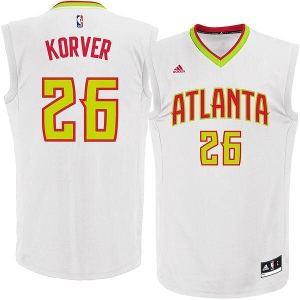 NBA Atlanta Hawks Basketball Jersey Mens #26 Kyle Korver Alternate Breathable Authentic Dry Fast Chase Fashion Top White s - intl