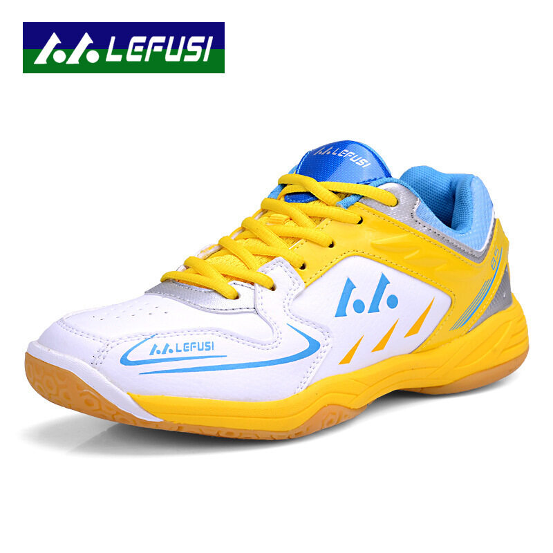 New Sports Sneakers Men Breathable Professional Tennis Shoes Color White & Yellow Size 39-45 - intl