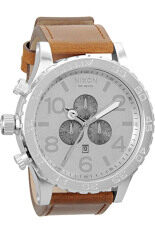 Compare Prices of Nixon 51-30 Chrono Leather Saddle Watch A124-747 Online
