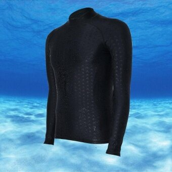 Ocean Men Sports Wetsuits Waterproof quick-drying Long sleevediving Bathing suit snorkeling surfing Rashguards(Black) - intl