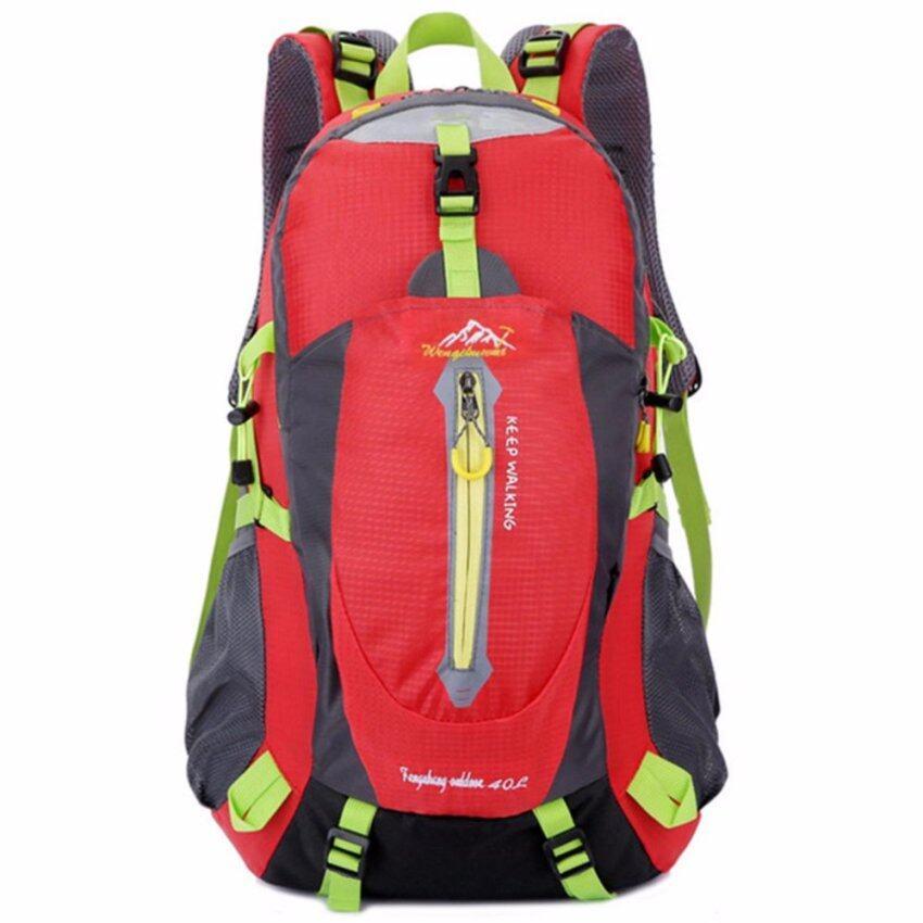 Otzi กระเป๋าเป้สะพายหลัง แบ็คแพ็ค เดินทาง ท่องเทียว กันน้ำ 40L สีแดง
