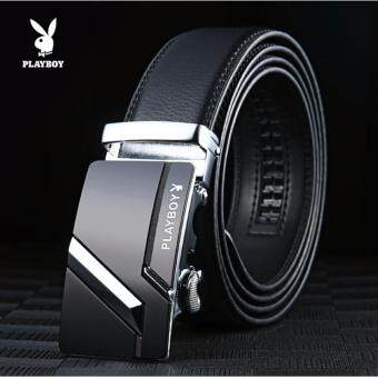Playboy genuine belt male leather automatic buckle youth businessKorean pants middle-aged cowboy belt