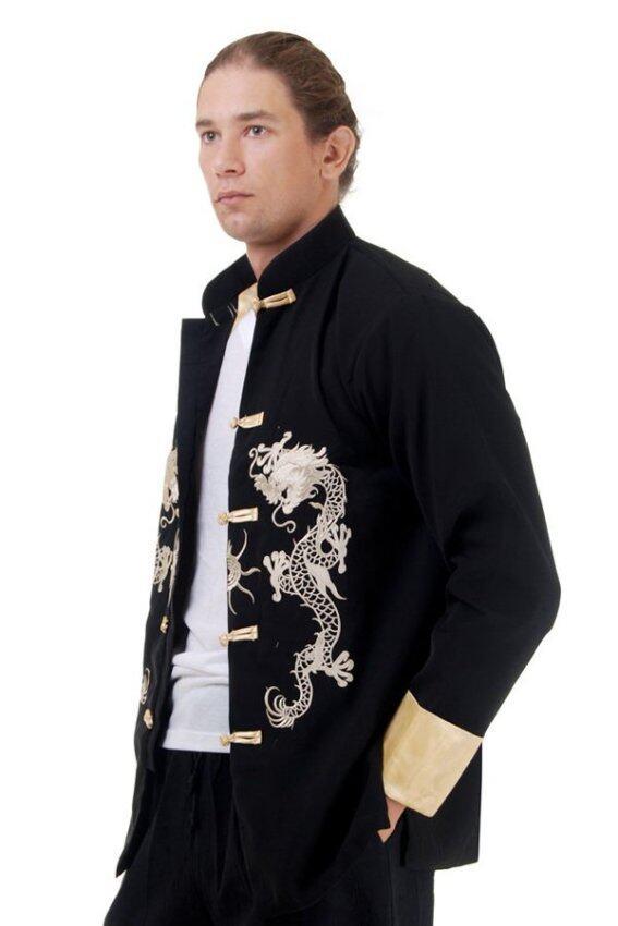 Princess of asia เสื้อจีนผู้ชายแขนยาว - สีดำ ...