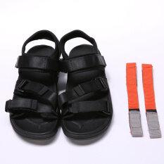 ยุโรปและอเมริกาคู่เชือกผูกรองเท้าบางลื่นผู้ชายรองเท้าแตะ (สีดำ) ราคา 534 บาท(-72%)