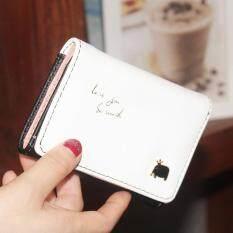 สดสีชมพูมัลติฟังก์ชั่บุคลิกภาพกระเป๋าเงินกระเป๋าเงิน (ลูกช้างสีดำ) ราคา 260 บาท