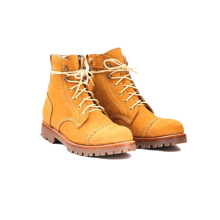 รองเท้าหนังนูบัคชนิดกันชื้นและหิมะ หัวเหล็ก ติดซิบ ...