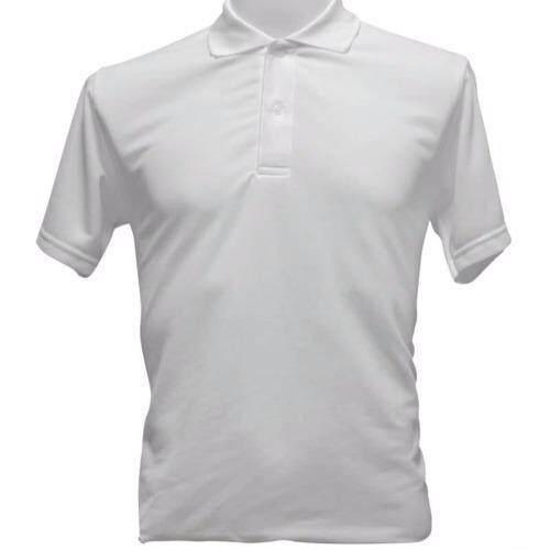 เสื้อโปโล ผ้าจุติ สีขาว