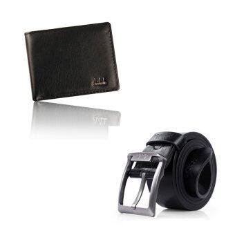 กระเป๋าสตางค์หนังพับครึ่งมนุษย์ธุรกิจหนังหัวเข็มขัดโลหะซี่เดียวธุรกิจสีดำ