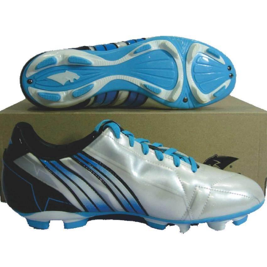 รองเท้ากีฬา รองเท้าสตั๊ด PAN 15K2 ALPHA 11 ขาวฟ้า