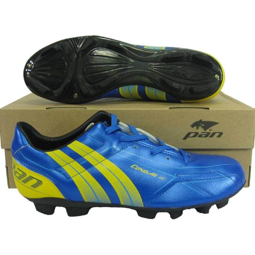 รองเท้ากีฬา รองเท้าสตั๊ด PAN 15K8 CONQURE III น้ำเงินเหลือง