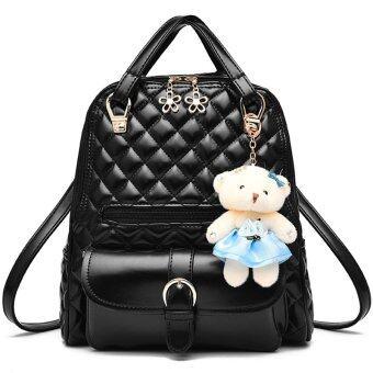 RockLife 3 in 1 Women Bag Top Handle Bag Women Backpack กระเป๋าสะพายไหล่ กระเป๋าเป้สะพายหลัง -Black