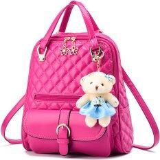 RockLife 3 in 1 Women Bag Top Handle Bag Women Backpack กระเป๋าสะพายไหล่ กระเป๋าเป้สะพายหลัง -Pink