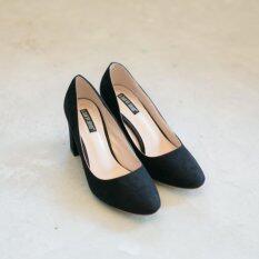S606-3 รองเท้าคัชชูส้นตัน ทรงเรียบหรู สุภาพ
