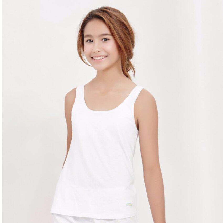 Sabina เสื้อทับ Coolteen รุ่นYellow and Blue BS รหัสSCC315 สีขาว