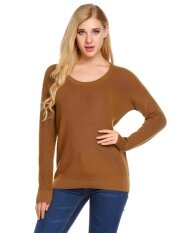 Sales Lady Long Sleeve Knitting Sweater Solid Loose Pullover Knitted Sunwonder - Intl ราคา 507 บาท(-50%)