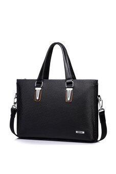 Sammons Leather Shoulder Hand Tote Bag (Black)