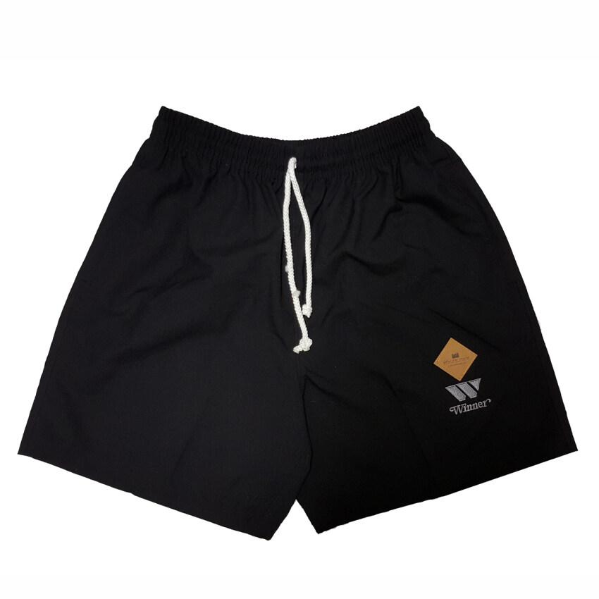 ShortsSaleMan กางเกงขาสั้นยืดฟรีไซส์ รุ่นW215 (สีดำ)
