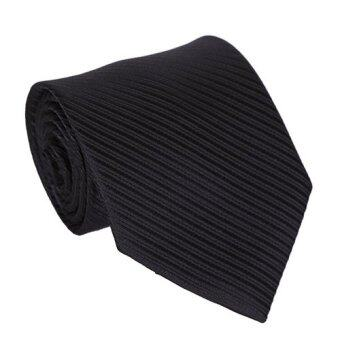 Siamcity mall เนคไท ทรงหน้ากว้าง 3 นิ้ว สีดำ พื้นลายนูน necktie 3 inch wide black