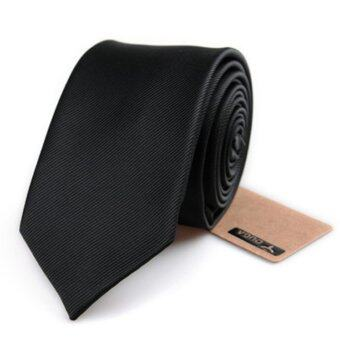 Siamcity mall เนคไท ผ้าอย่างดี หน้ากว้าง 6 เซนติเมตร สีดำ necktie black