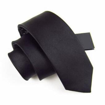 Siamcity mall เนคไท ผ้าอย่างดี ทรงสลิม สีดำ necktie slim black