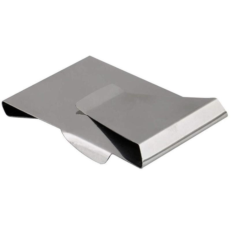 Steel Clip New Slim Card Clip Double Wallet Stainless Credit Sided Money Holder