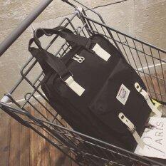 Sun กระเป๋า กระเป๋าเป้ กระเป๋าเป้สะพายหลัง NEW Fashion Backpack TTQ-สีดำ