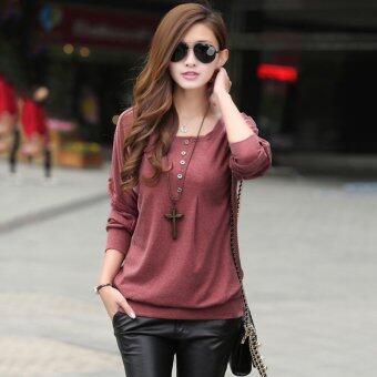 Sunweb แฟชั่นเกาหลีร้อนเสื้อแขนเสื้อยาวลายผู้หญิงใส่กระโปรงลูกไม้สีดำ