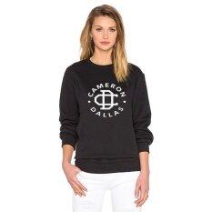 Top Black Lady Sweater Cameron Dallas Letter Print Long Sleeve - Intl ราคา 349 บาท(-50%)