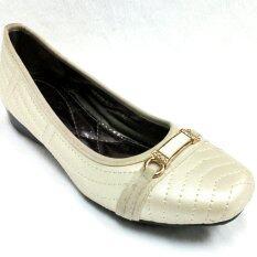 Trippershoes Pump Shoes รองเท้าคัชชูผ้านิ่ม ใส่ทำงาน รองเท้าไซส์ใหญ่พิเศษ code SW399-1771A (สีขาวงาช้าง / Ivory White)