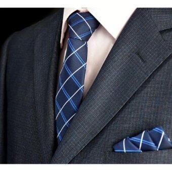 twilight เนคไท & ผ้าเช็ดหน้าสูท Necktie Pocket Handkerchief - รุ่น E304(not defined)