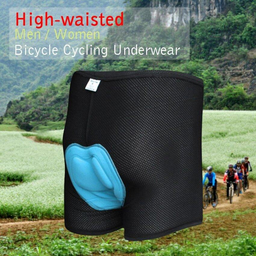 Unisex High-waisted Men / Women Bicycle Cycling Underwear Gel 3D Padded Bike Short Pants ...