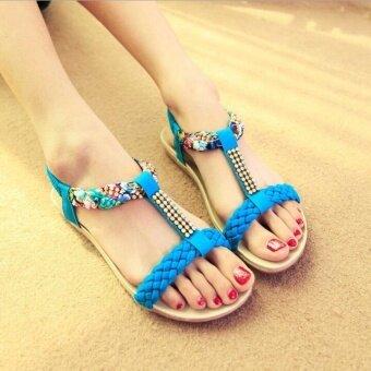 UR Bohemia Flat sandals Blue - intl