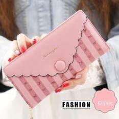 Vn Fashion กระเป๋าสตางค์ใบยาว กระเป๋าเงินผู้หญิง กระเป๋าตังตามวันเกิด รุ่น Vw-002 (ชมพู) ราคา 699 บาท(-61%)