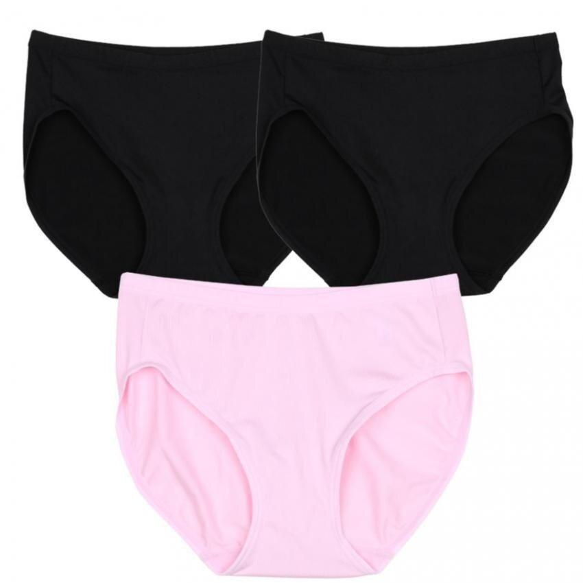 Wacoal Panty Set 3 pcs. กางเกงในรูปทรง BIKINI รูปแบบเรียบ สีดำ