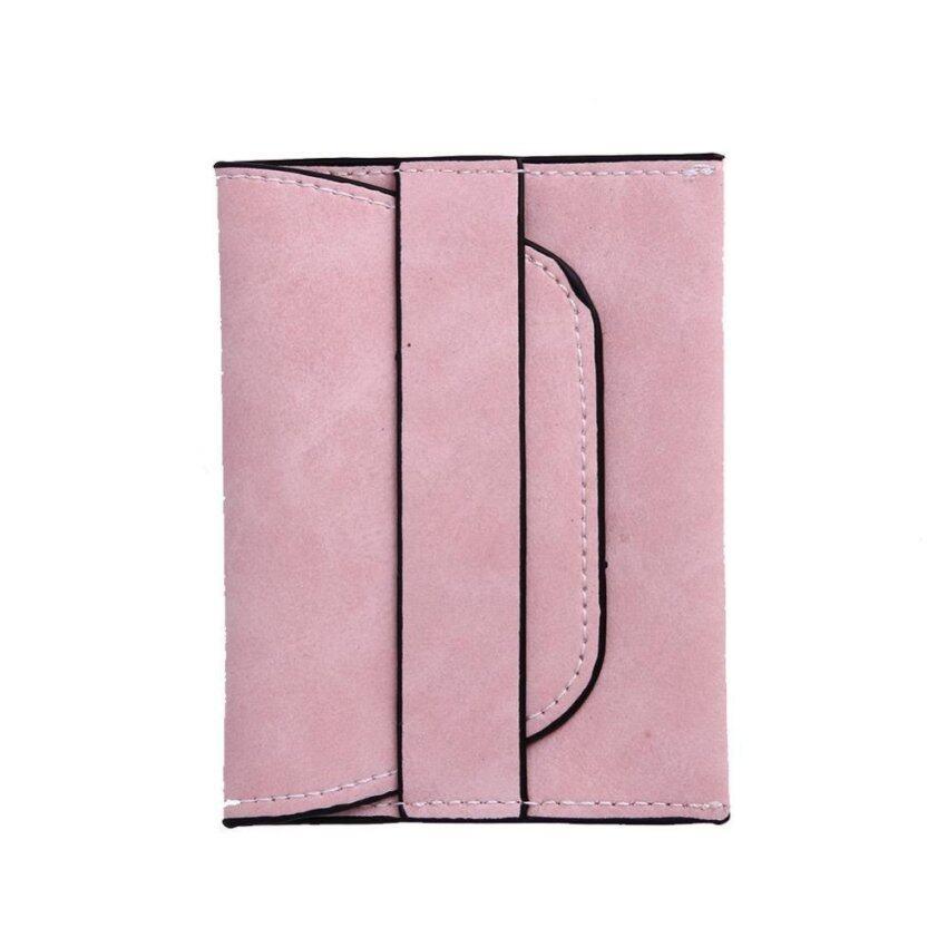 มาใหม่ Women PU Leather Wallet Mini Short Drawstring Coin Holder Purse(Pink)-one size – intl มาใหม่