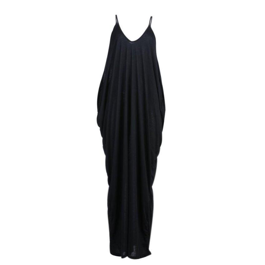 Women Soft Braces Skirt Summer Beach Long Dress(Black) - intl ...